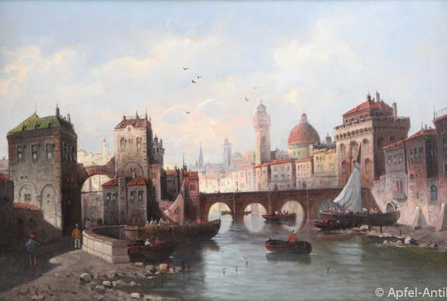 KAUFMANN, Karl GEMÄLDE BLICK AUF FLORENZ um 1880