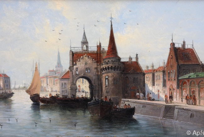 Kaufmann, Karl VIEW OF ANTWERP around 1880