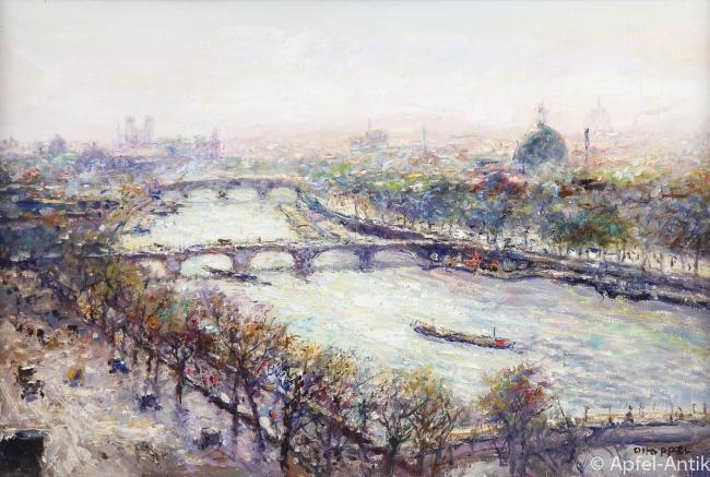 PIPPEL, Otto Eduard BLICK VOM LOUVRE AUF PARIS um 1910