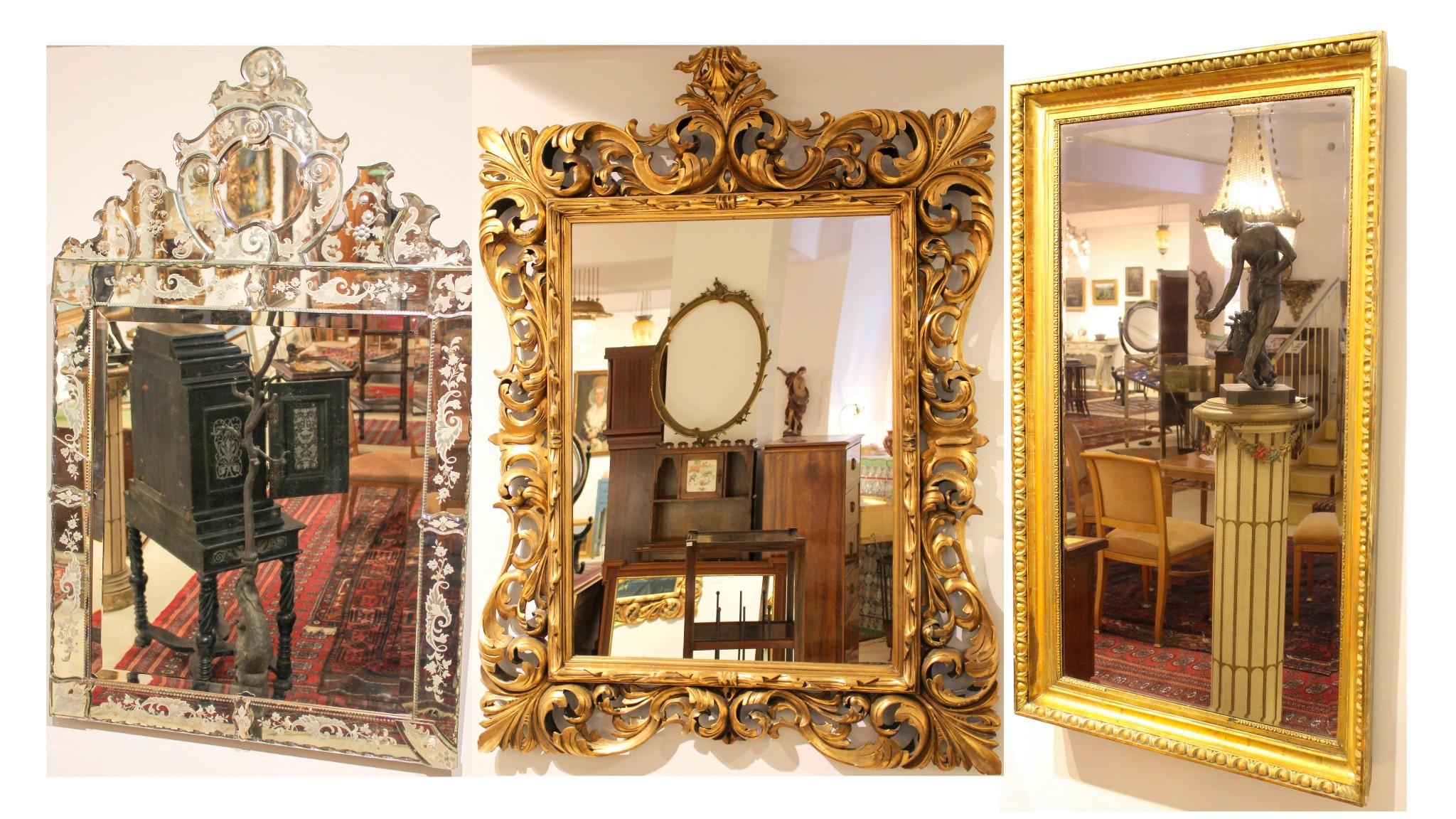 gro e auswahl an spiegel bei apfel antik apfel antik. Black Bedroom Furniture Sets. Home Design Ideas