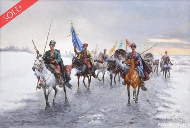 BAUMGARTNER-STOILOFF, Adolf GOLDTRANSPORT DER KOSAKEN IN SIBIRIEN