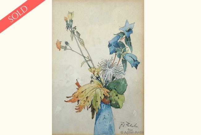 ZETSCHE, Eduard WATER COLOR FLOWER MOTIVE